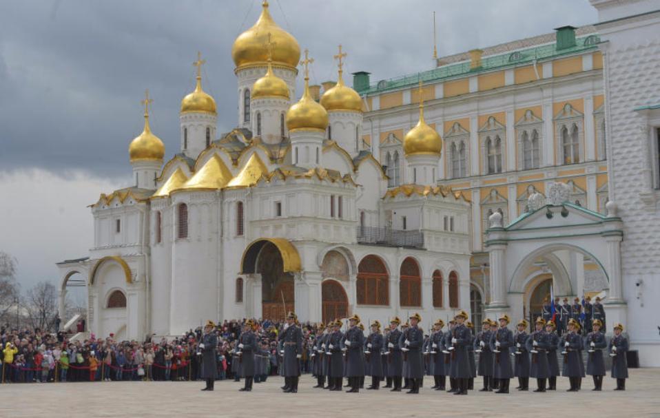 ВКремле прошёл последний вгоду развод почётного караула