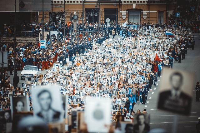 Больше млн. человек пройдут врядах «Бессмертного полка» в столице России
