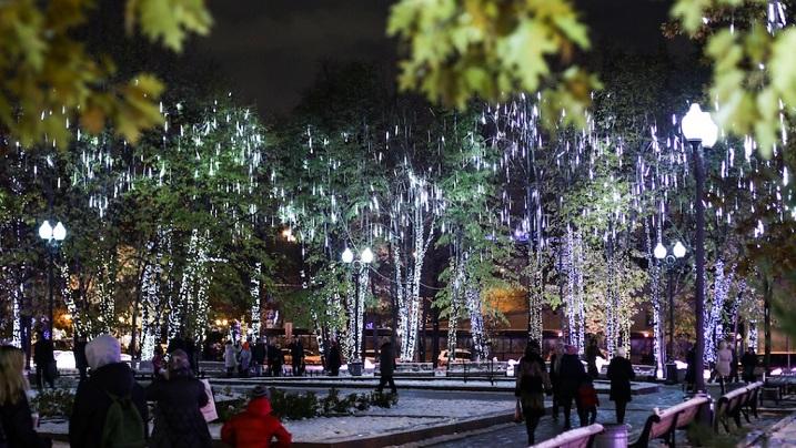Зимнюю иллюминацию отключат в столице России 1апреля