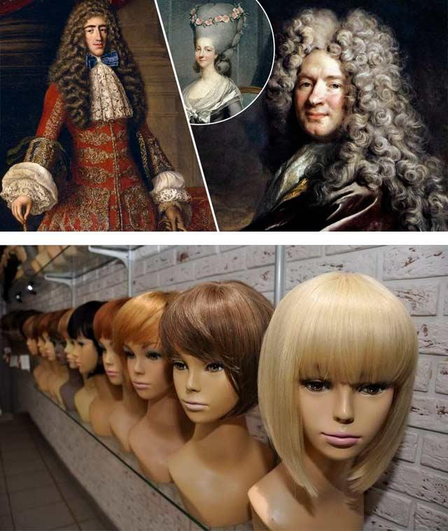 Виды париков и история