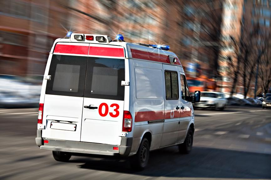При столкновении 2-х фургонов в столице России пострадали водители