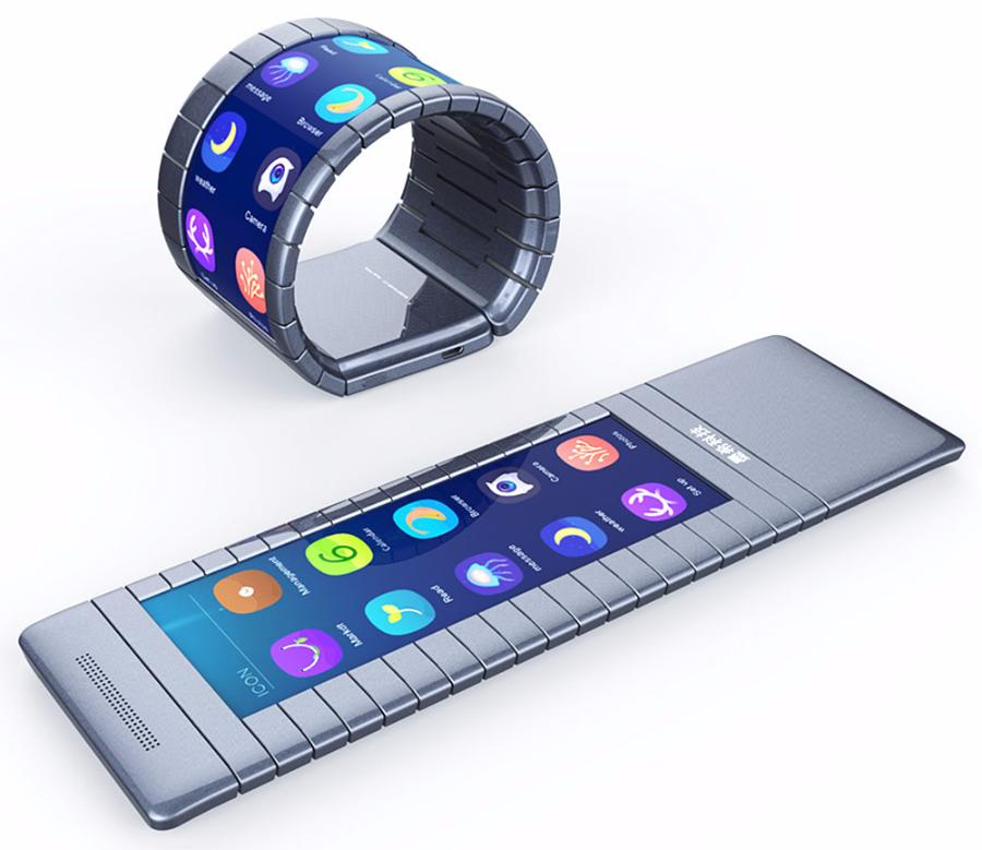 Продажи первого вмире смартфона-браслета начнутся доконца этого года