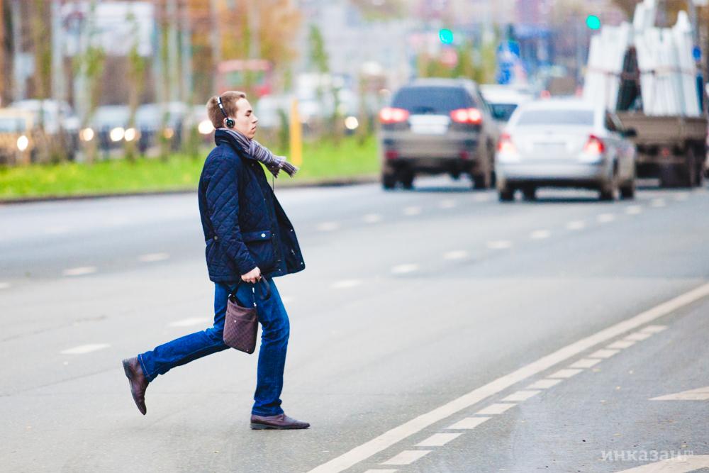 В российской столице шофёр автомобиля умышленно сбил пешехода