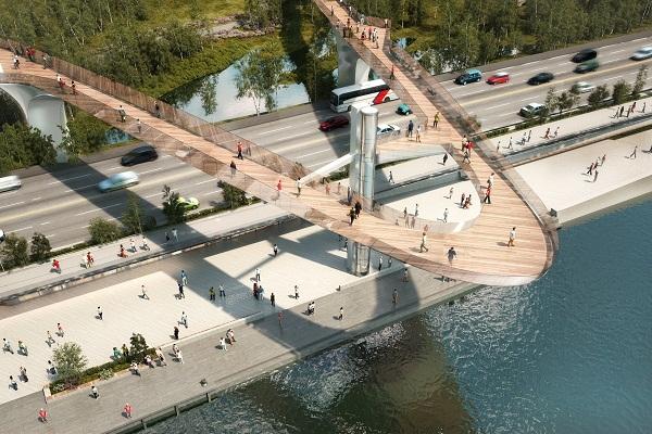 Накакой набережной столицы построят целый каскад «парящих» мостов