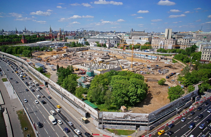 Единую пешеходную зону отКремля допарка «Зарядье» создадут в российской столице