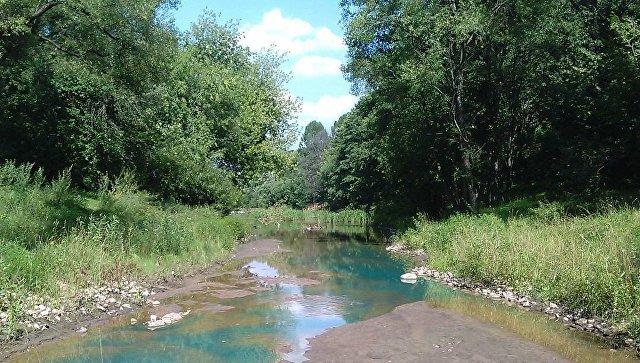 Река Каменка в российской столице приобрела насыщенный голубой цвет