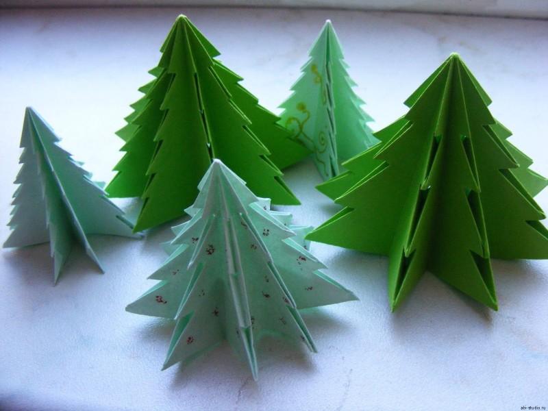 Сделать ёлочку из бумаги своими руками оригами