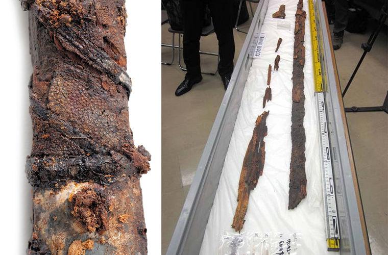 Вдревней японской гробнице найдены уникальные мечи