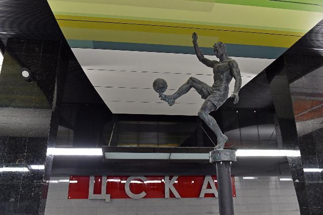 Кконцу сентября новейшую станцию «ЦСКА» украсят бронзовые скульптуры спортсменов