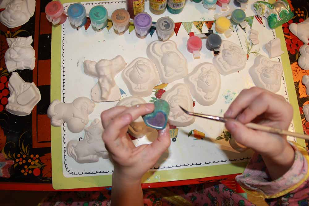 Поделки из гипса для детей своими руками