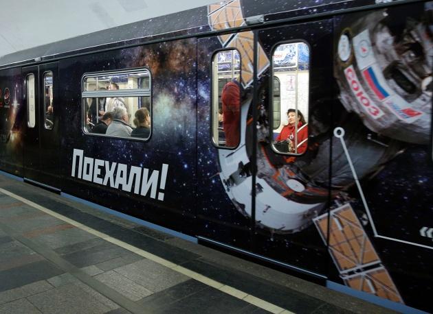 Новогодний поезд запустят наКольцевой линии Московского метрополитена