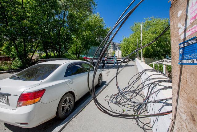 Отоборванного кабеля наЗацепском валу пострадала москвичка