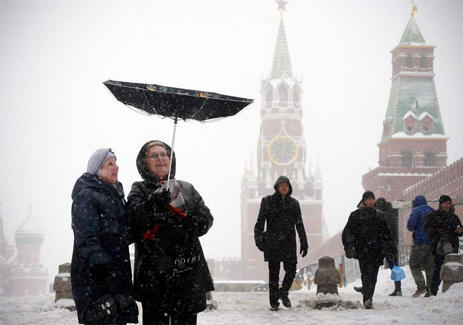 В российской столице объявлен оранжевый уровень погодной опасности