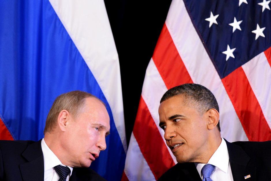 Кремль: Обама иПутин пару раз переговорили «наногах»