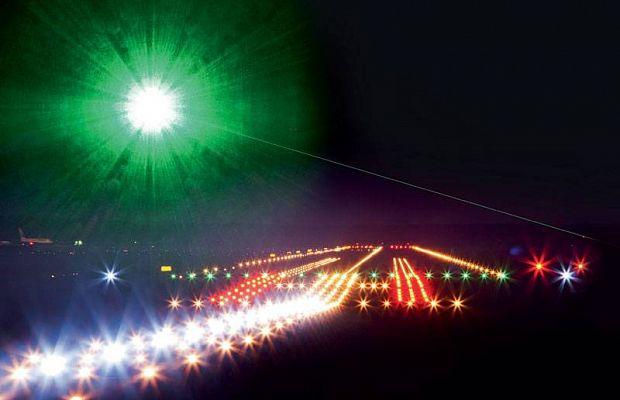Пилотов 5-ти самолетов ослепили зеленым лазером в российской столице