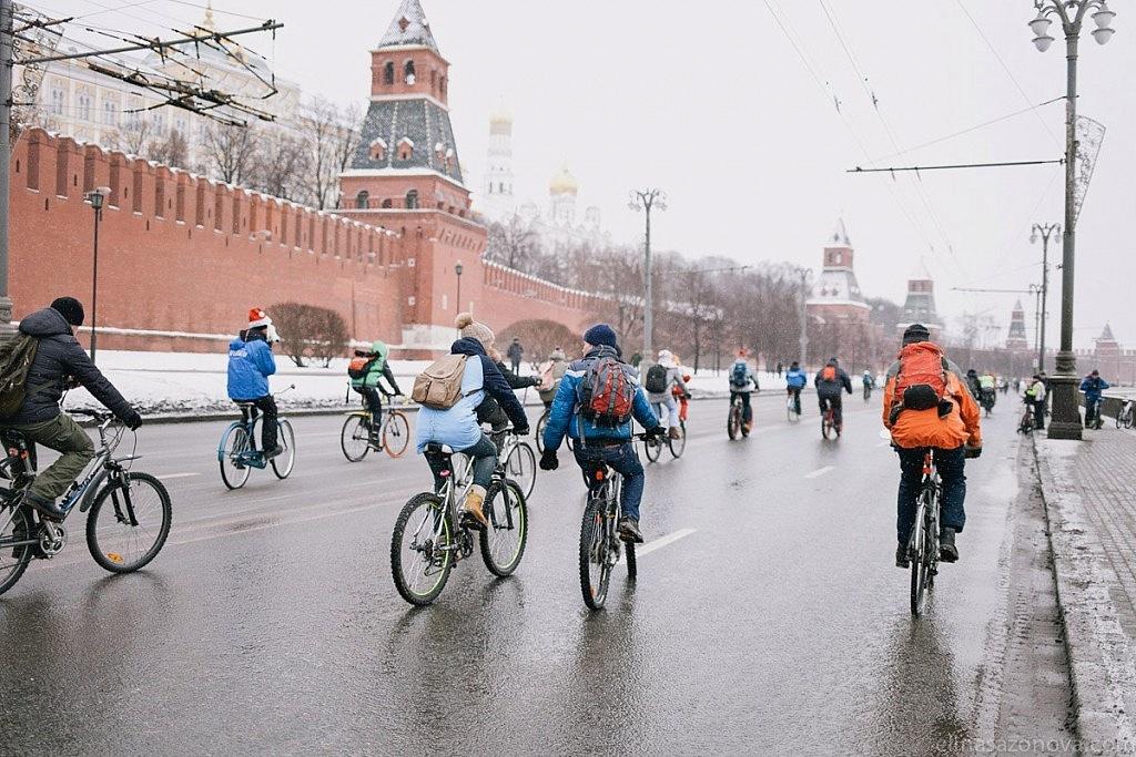 Зимний велопарад пройдет в столице 11февраля