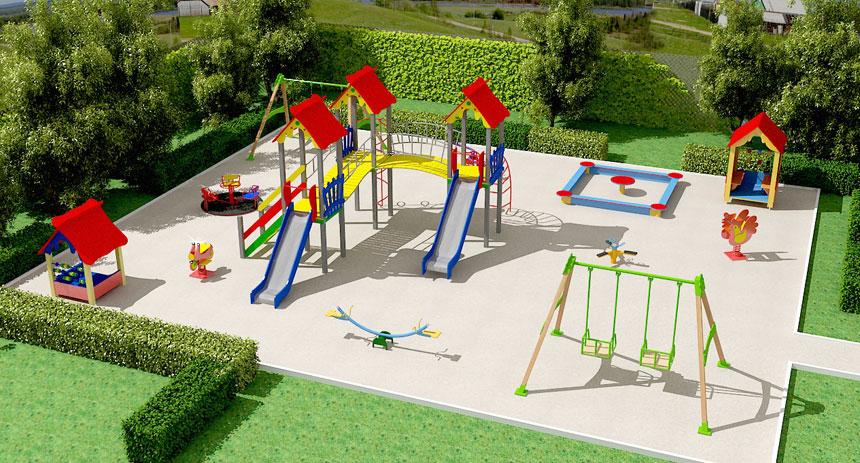 Создании детской площадки