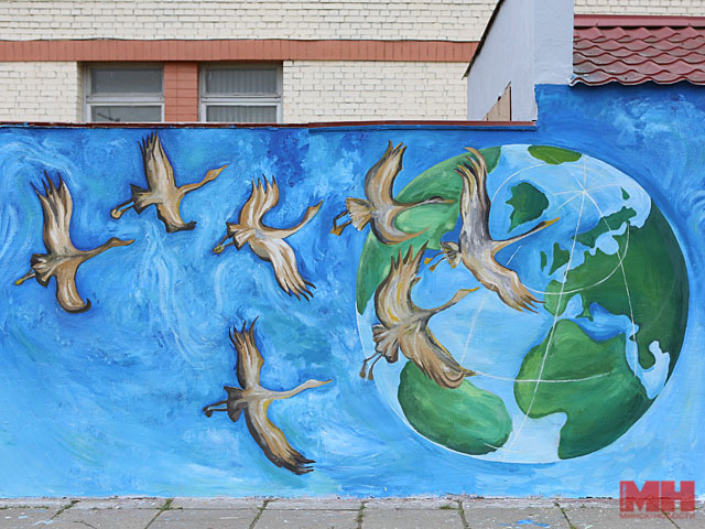 Три граффити наэкологическую тему нарисуют вцентре столицы коктябрю