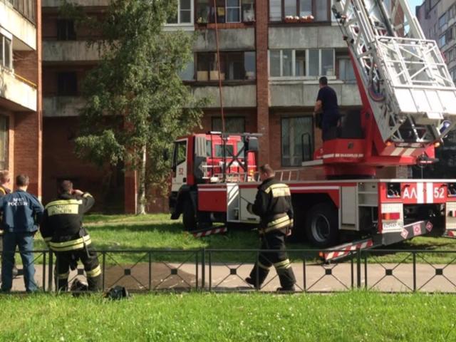 Пожилую женщину спасли вовремя пожара навостоке столицы