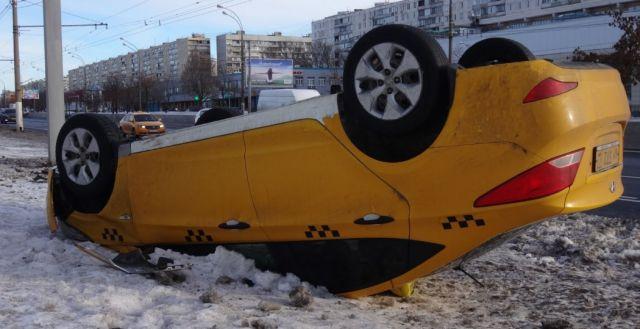 Таксист пострадал врезультате дорожно-траспортного происшествия наАлтуфьевском шоссе