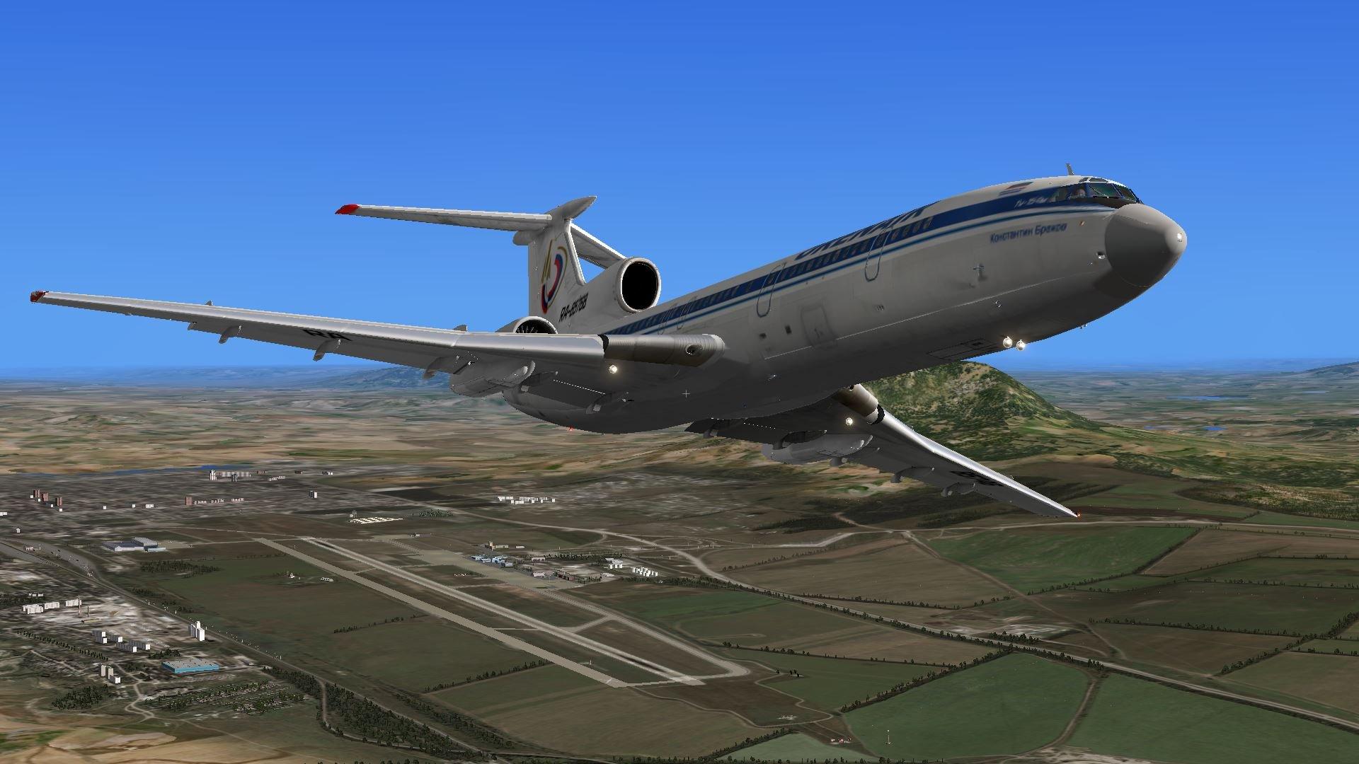 Полет Ту-154 над темным морем продлился 70 секунд