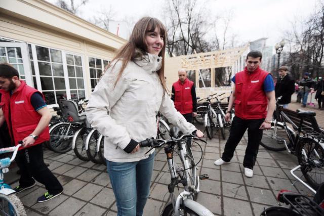 Арендовать велосипед в столицеРФ можно будет ипосле 1ноября