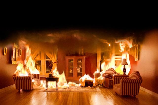 Пожар насевере столицы  попал навидео