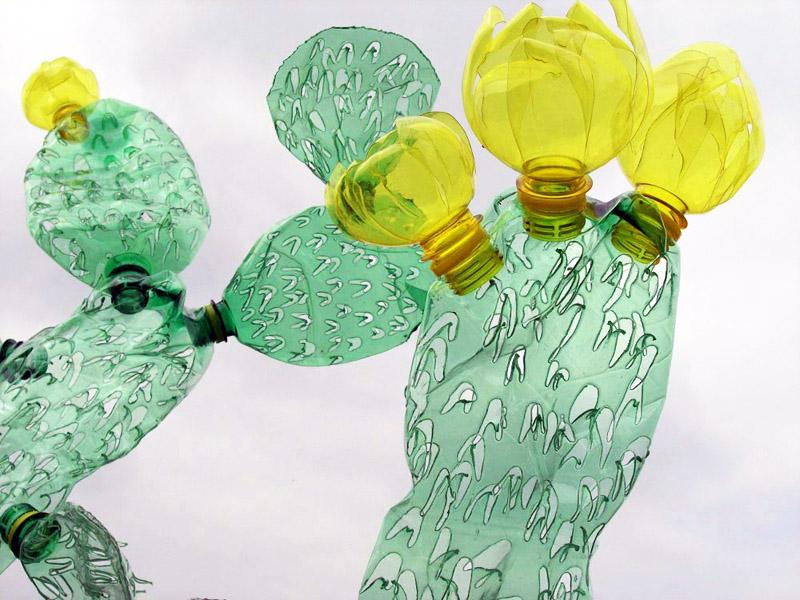 Поделки цветок из пластиковой бутылки своими руками